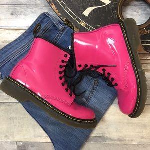 DR. Martens Delaney Pink Boots